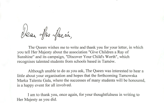 List do Królowej Wielkiej Brytanii